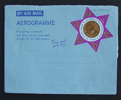 1970 Tonga 10s stamp on Air Mail letter unused