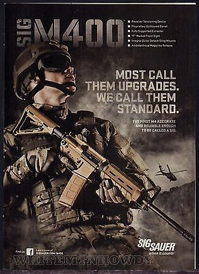 2012 SIG M400 Rifle Sig Sauer PRINT AD Collectible Advertising Page