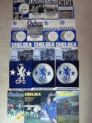 Chelsea football programmes collection 1967-88 - incl full members cup final '85