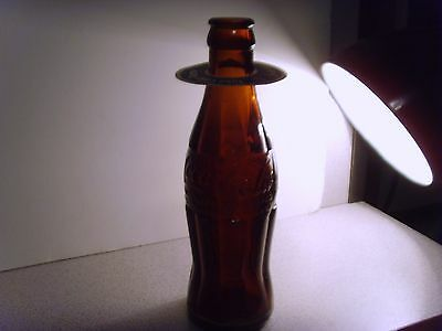 COCA COLA -6 oz. -AMBER -Hobbleskirt -Dayton Tennessee - with Holiday ad.