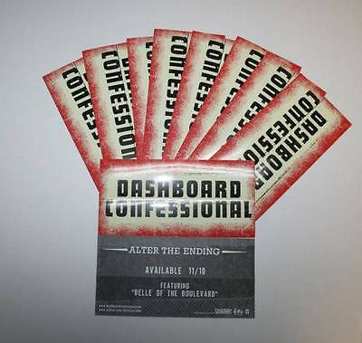DASHBOARD CONFESSIONAL Alter The Ending 10 PACK STICKERS