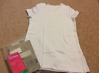Girls Thermal Sleeveless Vest 15-16 Years X 2 Look Now Bnwts