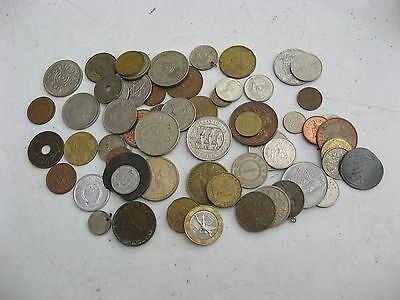 Approximately 50 Used Coins Etc.