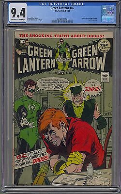 Green Lantern #85 Cgc 9.4 Off-White Pages Junkie Cover Neal Adams