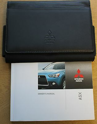 Mitsubishi Asx Handbook Owners Manual Wallet 2010-2012 Pack 10990