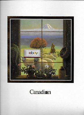 Canadian Airlines First Class Menu Scene Of New Zealand By Andris Leimanis