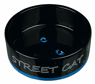New 2 x Trixie STREET CAT Ceramic Food / Water Cat Bowl - Dish 24659