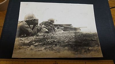 Original Wwii Japanese Photo: Army Soldiers, Camo Nets, China War!!