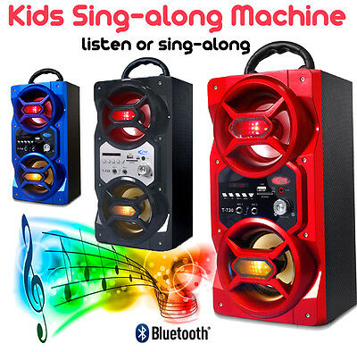 Kids Sing Along Machine - Bluetooth Speaker With 2 Microphone