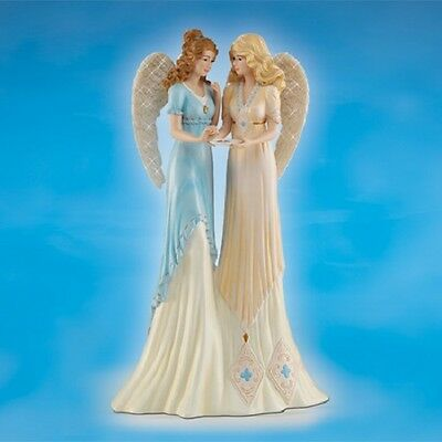Angels of Sisterly Delight Thomas Kinkade Sisters Figurine Bradford Exchange