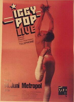 Iggy Pop Concert Tour Poster 1981 Party