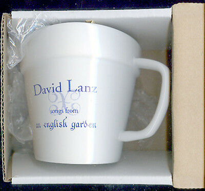 DAVID LANZ promo COFFEE TEA CUP MUG Songs From An English Garden 1998 NEW AGE