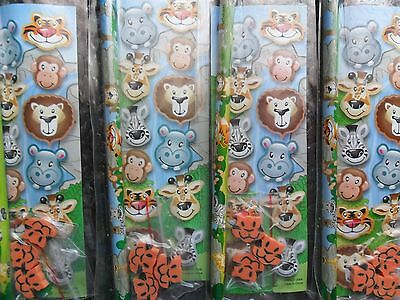 8 x  Zoo Animal Stationery Sets Pencil Sticker Erasers Party Favor Novelty
