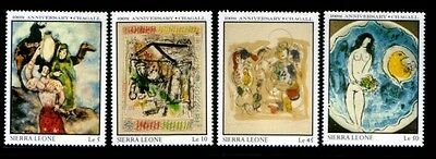 SIERRA LEONE Marc Chagall PAINTINGS MNH set
