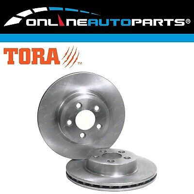 2 Front Disc Brake Rotors Ford Territory TX TS 6/04-11 Ghia AWD RWD (Pair)