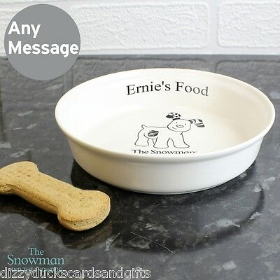 Personalised The Snowman Snowdog Food Water Cat Dog Rabbit Bowl Pet GiftP0305G61
