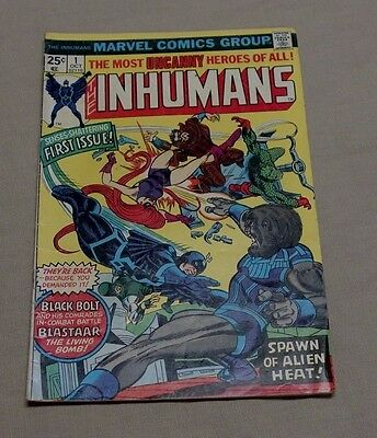 Marvel THE INHUMANS 1 First Issue 1975 Comic Book