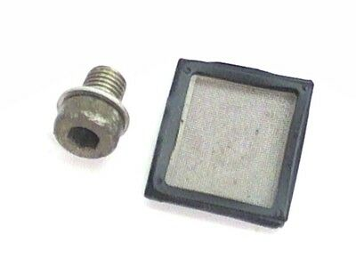 Honda Engine 12mm Socketed Drain Plug Oil Screen Filter Elite CH80 Scooter Moped