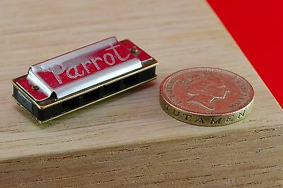 Vintage Miniature Harmonica Parrot Small Wind Mouth Organ Musical Instrument