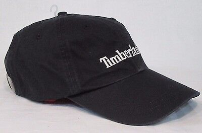 MENS TIMBERLAND Black Cotton Twill Boot Print Cotton CAP CAPS HAT HATS SUMMER