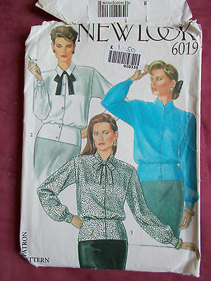 New Look Blouses  Sewing Pattern Sizes 8-14 (6019)