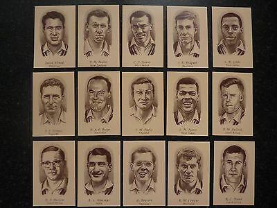 Trade Cards - 1960's Test Cricketers -  Complete Set Of 50  In Mint Condition