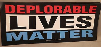WHOLESALE LOT OF 20 DEPLORABLE LIVES MATTER TRUMP STICKERS Proud to be President