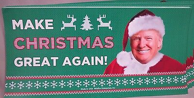 WHOLESALE LOT OF 20 TRUMP MAKE CHRISTMAS GREAT AGAIN STICKERS America red hat