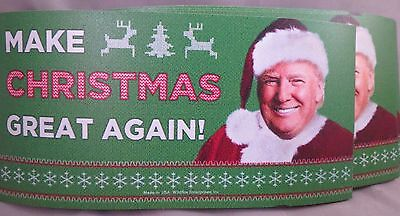 WHOLESALE LOT OF 10 MAKE CHRISTMAS GREAT AGAIN TRUMP MAGNET red hat America USA