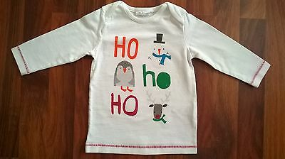 Next Baby Boys Long Sleeved Christmas Xmas T-Shirt Jumper Top Age 6-9 Months