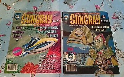 Stingray comics no.2-3. still have free badges,mint collectable, loft barn find