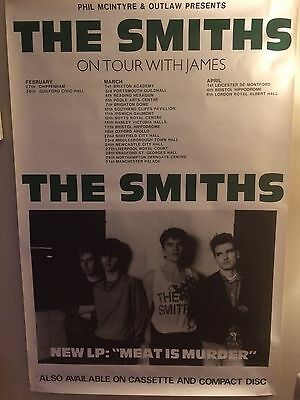 """THE SMITHS Meat is Murder UK Tour Promo Poster 41"""" X 61"""""""