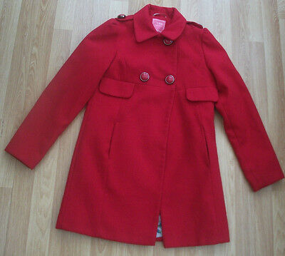 NEXT GIRLS RED COAT AGE 11 - 12 YEARS (146 to 152cm)