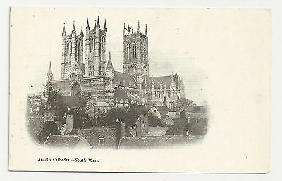 Boots Pelham Series Postcard, Lincoln Cathedral - South West