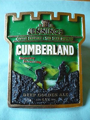 Jennings Brewery Cumberland heavy metal pump clip front
