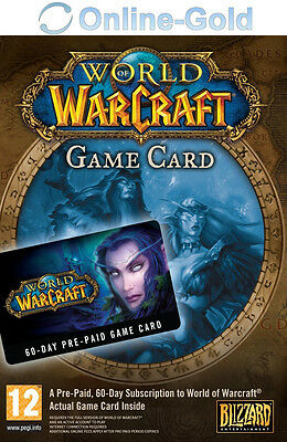 World of Warcraft - Tarjeta de prepago 60 días PC Código WoW GameCard Time EU/ES