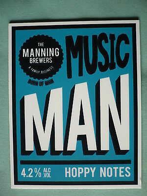 Mannings Brewery Music Man pump clip front