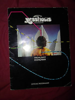 Yes - Yesshows 1977 World Tour Programme