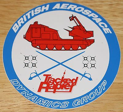 Old British Aerospace Dynamics Group Tracked Rapier Missile System Sticker