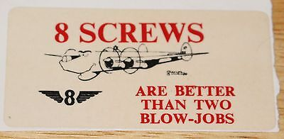 Old RAF Royal Air Force 8 Squadron Avro Shackleton 8 Screws Sticker