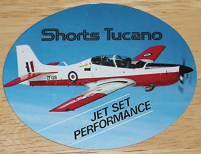 Old RAF Royal Air Force Shorts Tucano Sticker