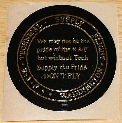 Old RAF Royal Air Force Waddington Technical Supply Flight Sticker
