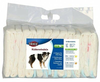 Trixie MALE WRAP Dog Diapers Disposable Nappies Pack - ALL SIZES MALE