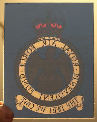 Old RAF Royal Air Force Benevolent Fund Window Sticker