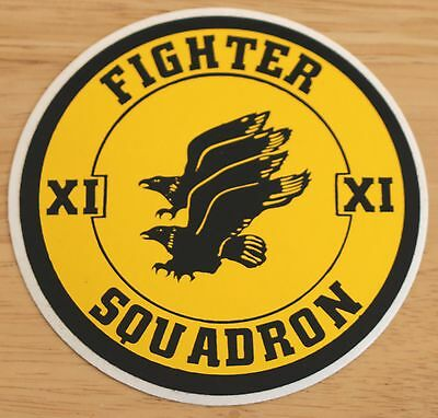 Old RAF Royal Air Force 11 Fighter Squadron Sticker