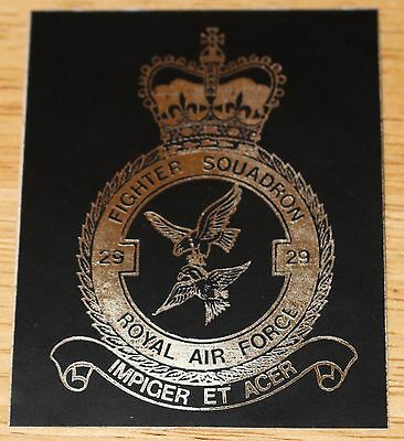 Old RAF Royal Air Force 29 Squadron Crest Sticker