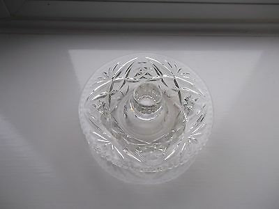 Lovely Vintage Facet Cut Glass Chamber Stick/Candle Stick