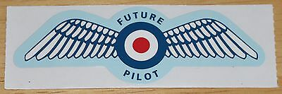 RAF Royal Air Force Future Pliot Wings Sticker Version 2