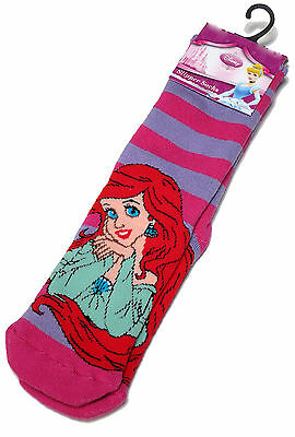 Girls Disney Ariel The Little Mermaid Slipper Socks Uk Size 3-5.5 /1-2 Years