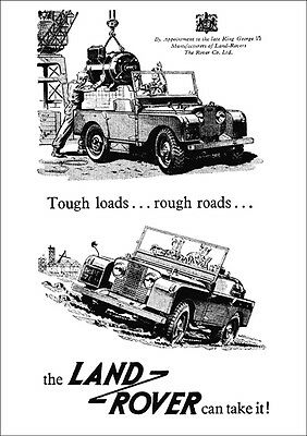 Land Rover Series 1 Retro A3 Poster Print From Classic Advert